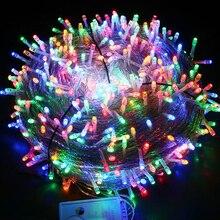Светодиодный светильник с Водонепроницаемый светодиодный светильник для свадьбы, Рождества, год сада и дома на открытом воздухе украшения 10/20/30/50/100 м Фея гирлянды