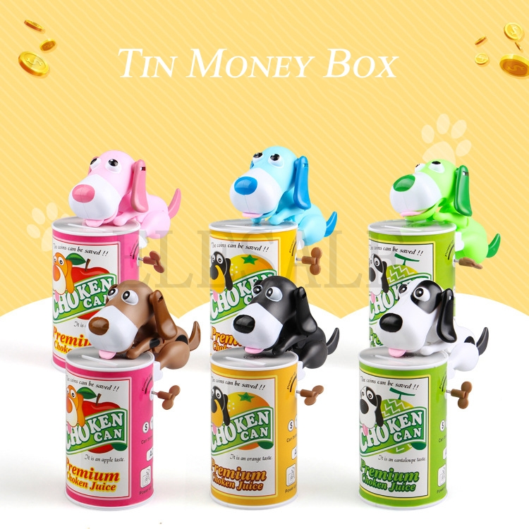 6/Color Dog Coin Piggy Bank Plastic Money Safety Box Coin Bank Automatic Eaten Coin Bank
