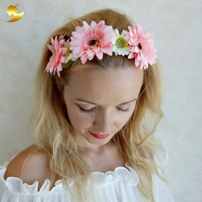 Xinyun Sunflower Flower Crown Artificial Flowers Head