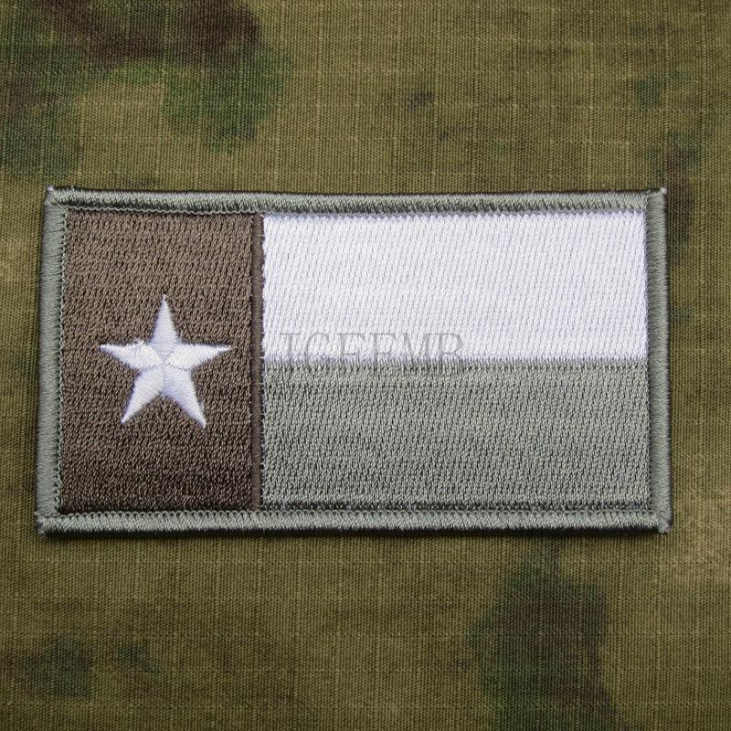 Grey STATE OF TEXAS FLAG SEAL TEAM Operation Red Wings Lone Survivor Embroidery patch Badges B3298