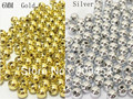 (Choose Color First) 6mm 1000pcs/lot silver/Gold Spacer Beads, Spacer acrylic beads For ChunkyJewellery
