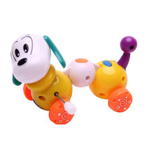 1Pc Random Color Cute Creative Cartoon Dog Wind Up Toys Running Car Clockwork Classic Toy Newborn Spring Toy Random Color(China)