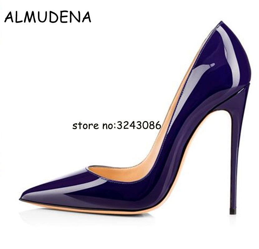 Black Blue White Pink Yellow Patent Leather Lady High Heels Shoes Slip-on Woman Wedding Party Shoes Fashion Women Pumps Shoes 2018 new arrival women red gold metallic leather border snake pumps thin high heels party shoes lady slip on shoes woman