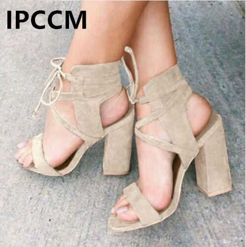 IPCCM Brand Women Sandals Summer Sexy High Heels Sandals For Women Shoes Gladiator Fashion Sandals Open Toe Sandals Summer ShoesIPCCM Brand Women Sandals Summer Sexy High Heels Sandals For Women Shoes Gladiator Fashion Sandals Open Toe Sandals Summer Shoes