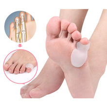 1Pair Little Toe Thumb For daglig bruk Silikon Gel Toe Bunion Guard Foot Care Finger Toe Separator Hallux Valgus Toe Separators