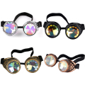 New Fashion Vintage Style Steampunk Goggles Welding Punk Gothic Colourful Glasses Gothic Cosplay Men Women Cool Glasses Eyewear