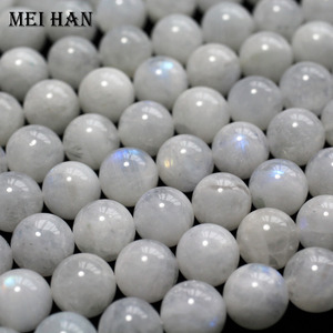 Image 4 - Meihan оптовая продажа (приблизительно 38 бусин/набор/53 г/) A + 9,5 10,5 мм натуральный лунный камень Гладкие Круглые свободные бусины для изготовления ювелирных изделий дизайн