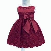 LZH תינוקות בנות שמלת נסיכת ילדה יום הולדת 1 שנה יילוד בנות בייבי שמלת ילדים שמלות ערב שמלות טבילה בגדים