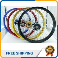 4 Colors 14 Inch Rear Rims CNC Hub Aluminum Alloy Wheel Rims For 125cc 160cc Dirt