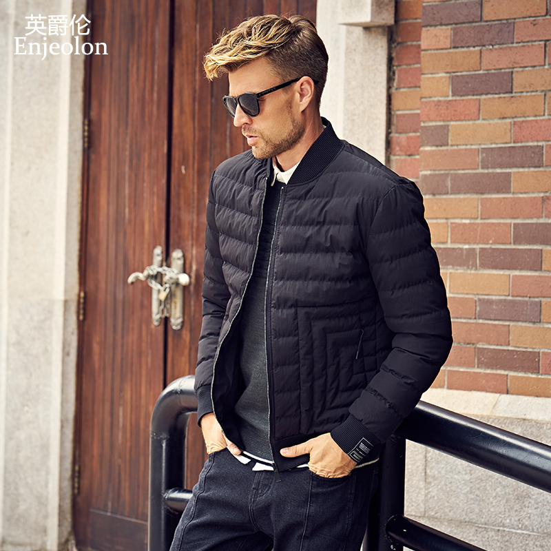 Enjeolon Brand winter Cotton Padded warm Jacket Men thick   Parka   coat male Quilted winter jacket Coat 3XL MF0724