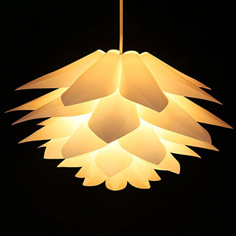 Lotus Shape Chandelier Pendant Ceiling Lamp DIY Home Living Room Bedroom Decoration Shade Hanging Light Lampshade
