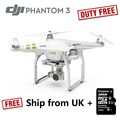 DJI Fantasma 3 RC Plane 4 K Câmera Zangão Profissional Dever o fantasma estoque reino unido quadrocopter addtional 32 gb micro sd para livre