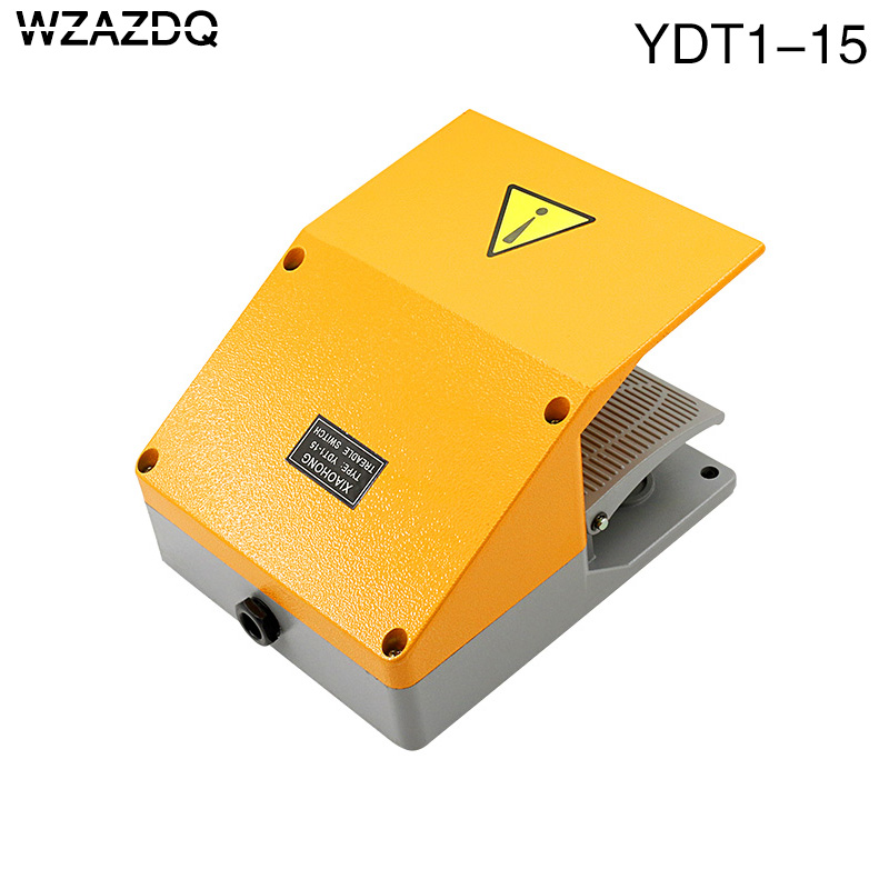 WZAZDQ Foot switch YDT1-15 aluminum shell gray double pedal switch machine tool accessories switch цена