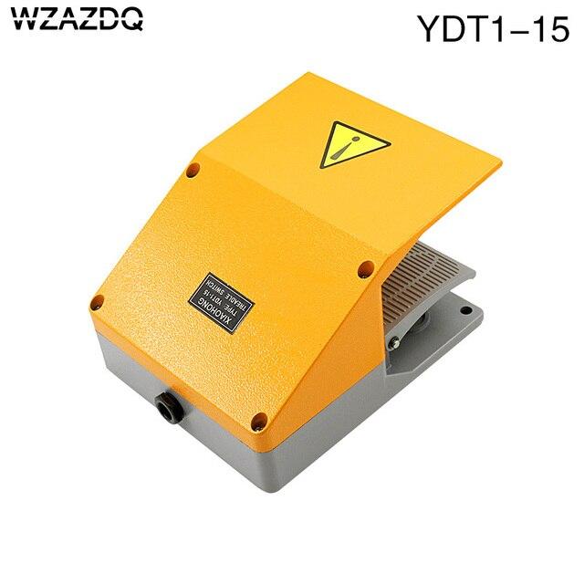 WZAZDQ Ayak anahtarı YDT1 15 alüminyum kabuk gri çift pedal anahtarı makinesi aracı aksesuarları anahtarı
