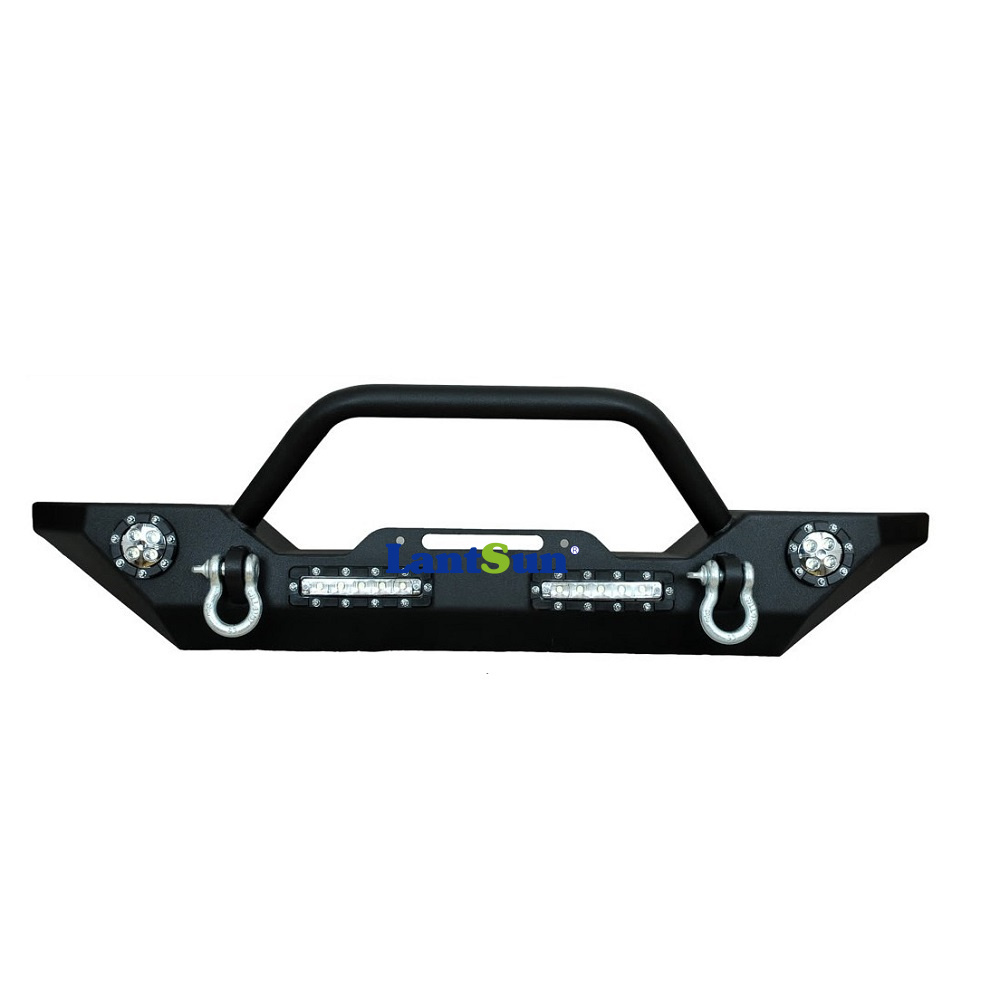 One piece black steel 20072015 wrangler jk front bumper with small one piece black steel 20072015 wrangler jk front bumper with small led light bars in bumpers from automobiles motorcycles on aliexpress alibaba aloadofball Choice Image