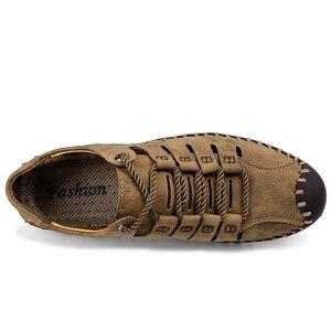 Image 4 - 2019 neue Sommer Männer Aus Echtem Leder Sandalen Business Casual Schuhe Männer Im Freien Strand Sandalen Römischen Männer Sommer Wasser Schuhe Größe 48