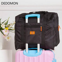 Men WaterProof Travel Bag For Suit Nylon Large Capacity Women Bag Folding Travel Duffle Handbags Luggage Packing Cubes Organizer(China)