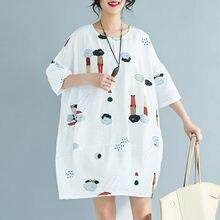 Chunli большой размер 2019 женское мягкое льняное летнее платье
