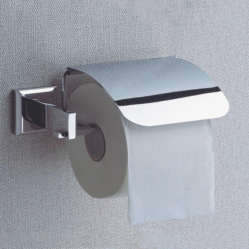 ФОТО Toilet Paper Holder Box Vintage Chrome Wall Mounted Modern Hanger Decorative WC Tissue Roll Holder Brass Bathroom Accessories