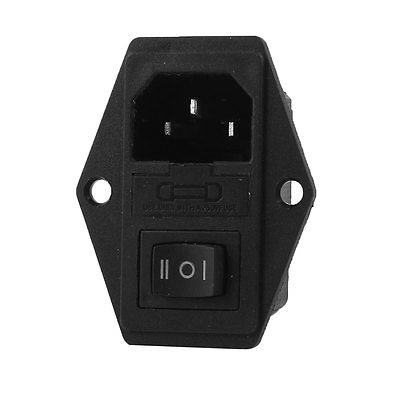 Screw Type IEC 320 C14 Male Plug AC 250V 15A Power Plug Inlet Socket Connector black fuse switch holder iec 320 c14 3pin screw type power inlet socket ac 250v