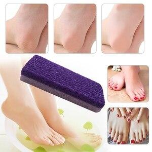 Foot Care Exfoliator Pedicure Tool Pumice Stone Foot Care Scrub Dead Hard Skin Remover Cleaner Purple Color(China)