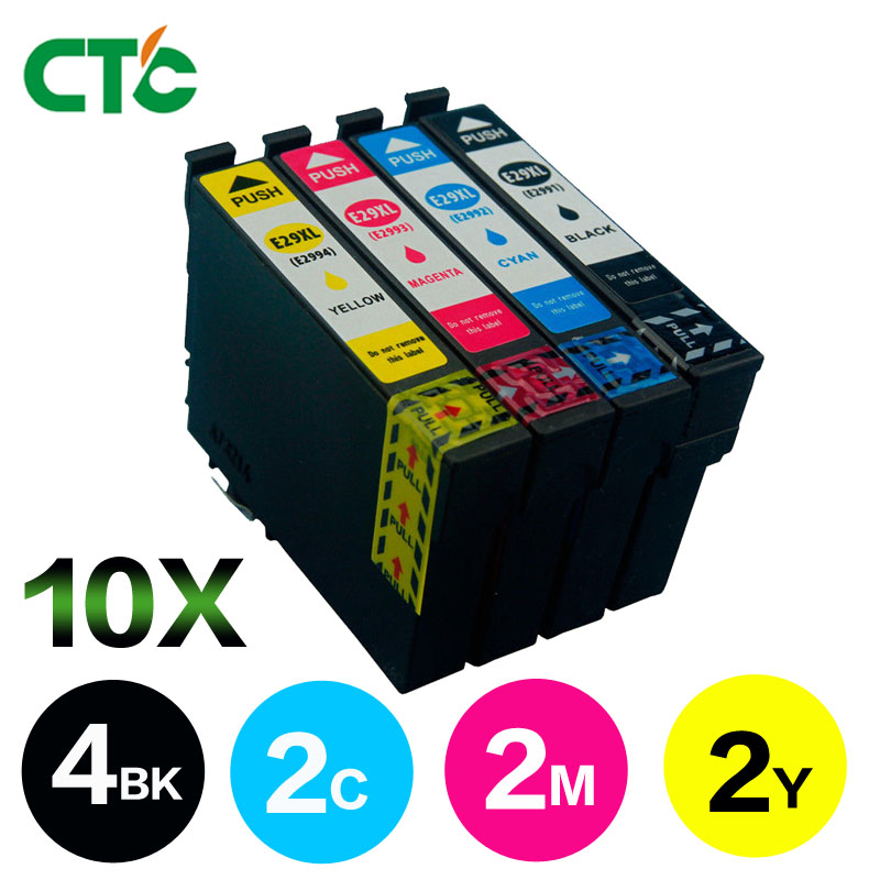 10 Pack T2996 29XL Ink Cartridge Compatible for EPSON XP 235 335 332 432 435 442 332 342 345 245 247 355 XP-255Printer