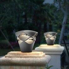 Современный водонепроницаемый светодиодный садовый газон лампы металлический столб светильник Открытый Двор вилла Пейзаж газон блокираторы света садовый светильник ing