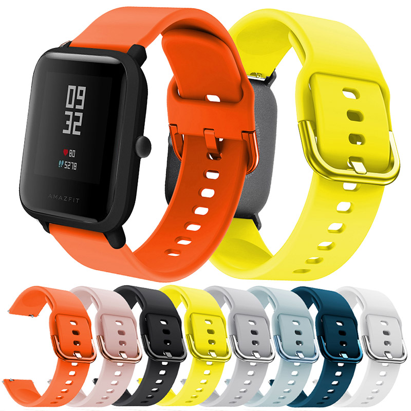 Watch-Strap-Replacement Wearable Active Galaxy Watch Amazfit Bip Youth Soft-Silicone