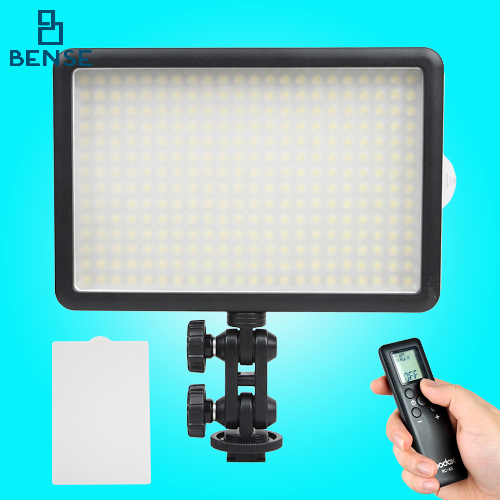 GODOX LED308C Wireless Remote Control Photo Video Light adjustable 3300~5600K Photographic studio LED Video Light godox professional led video light led308c changeable version wireless 433mhz grouping system 308 led bulbs of high brightness