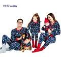 Ropa de Dormir cómoda VOT7 vestitiy Familiar de Navidad Hombre de Manga Larga Pijamas Set Papá pijamas ropa de Dormir Pijamas Regalo de Octubre 28