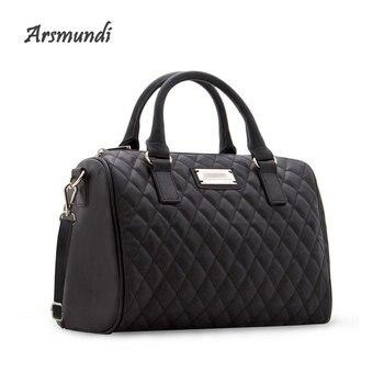 Arsmundi New Pattern Women Shoulder Bag Fashion Diamond Leather Handbags Vintage Pillow Luxury Messenger Clutch Ladies