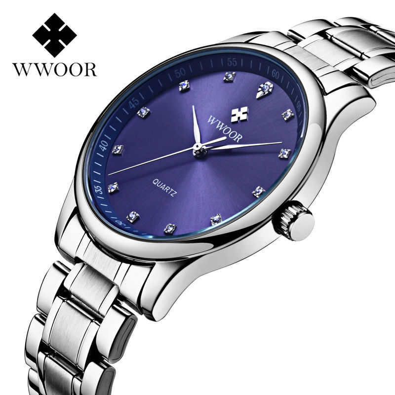 2018 New Brand Sports Watches Men s Casual Quartz Watch Waterproof Diamonds Hour Stainless Steel Men