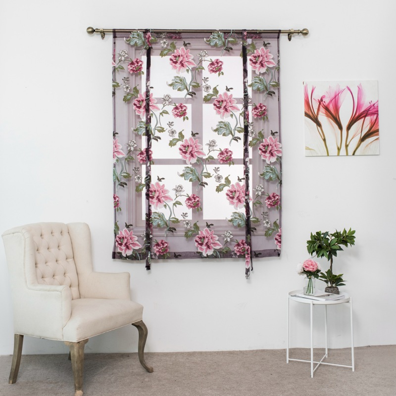 Amazon Kitchen Curtains Discount Store: Aliexpress.com : Buy Butterfly Flower Type Roman Short