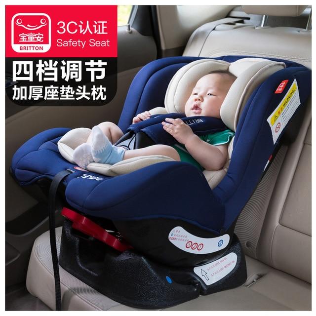 Siège auto enfant bébé voiture assise et allongée installation bidirectionnelle 0-4 ans certification 3C