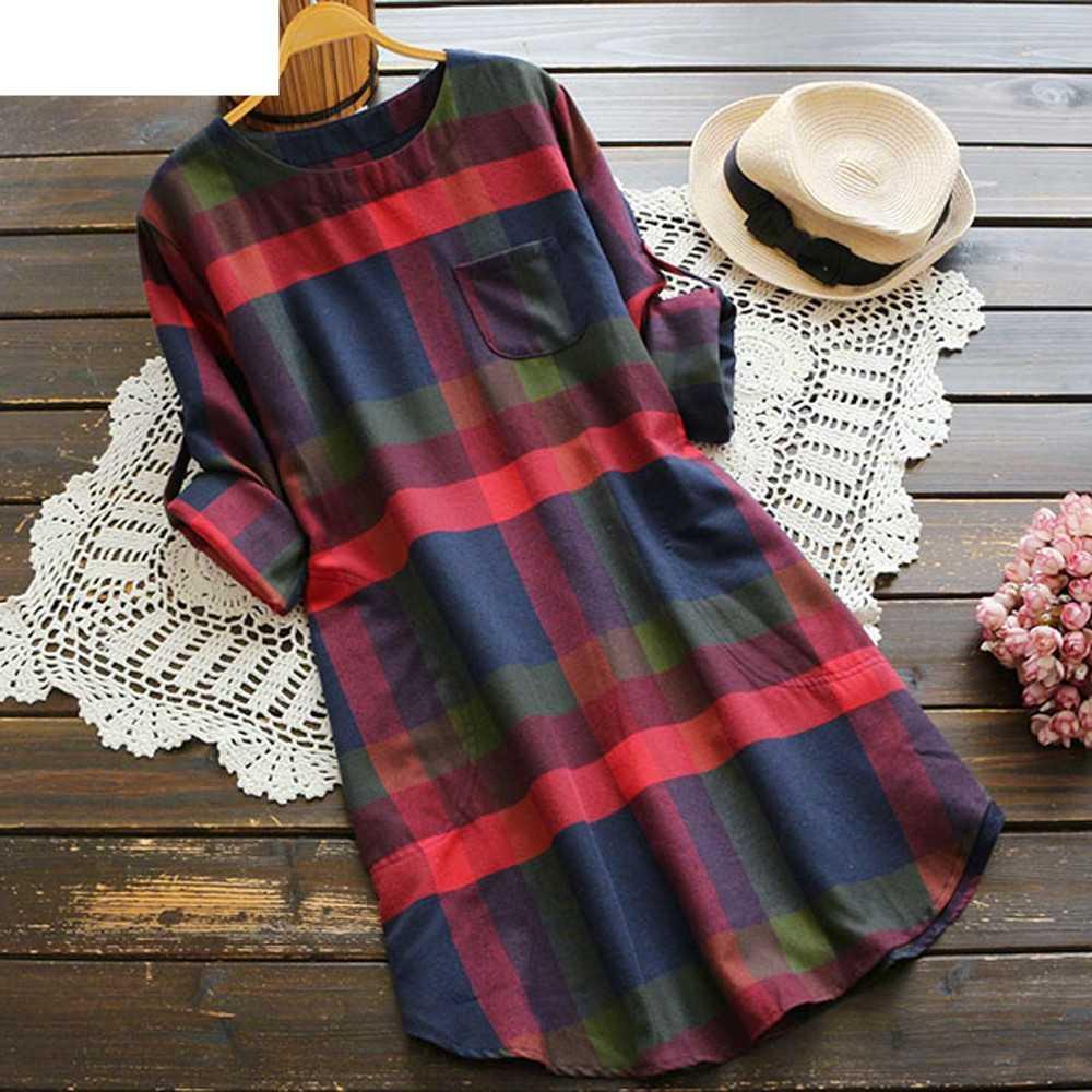 JAYCOSIN, женское платье, модное, рождественское, женское, в клетку, с длинным рукавом, свободный карман, винтажное платье, дропшиппинг, 18OCT15
