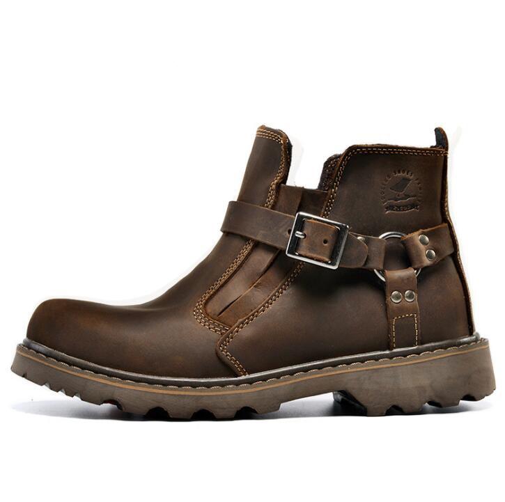 Homens Ferramental Botas Louco Militares Brown Tendência red Sapatos brown Couro Wyq39 De dark Casuais Dos Xek Ferramentas Cavalo Brown Light 57XqnCw