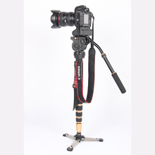 JIEYANG JY0506 Portable Aluminium Tripod for Professional Camcorder Video Camera DSLR Tripod Stand