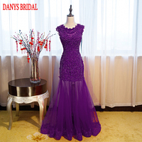 Red Long Lace Mermaid Evening Dresses Party Women Sequin Prom Dress Formal Evening Gowns Dresses On