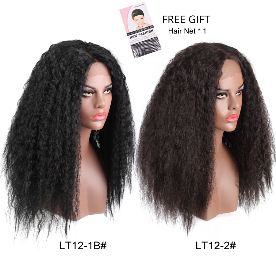 Leeons 2018 New 24 Inch Long Black Flase Hair Wig Best Lace Synthetic Wig Lace Front Wigs For Female Natural Cosplay Wig 61 Cm