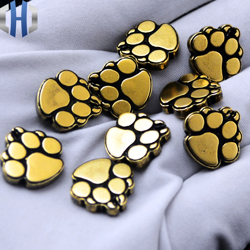 Dog Paw Print Bottom Fire Brass Steel Fire EDC Back Clip Tool Steel Fire XM18 Accessories CQC7 Accessories