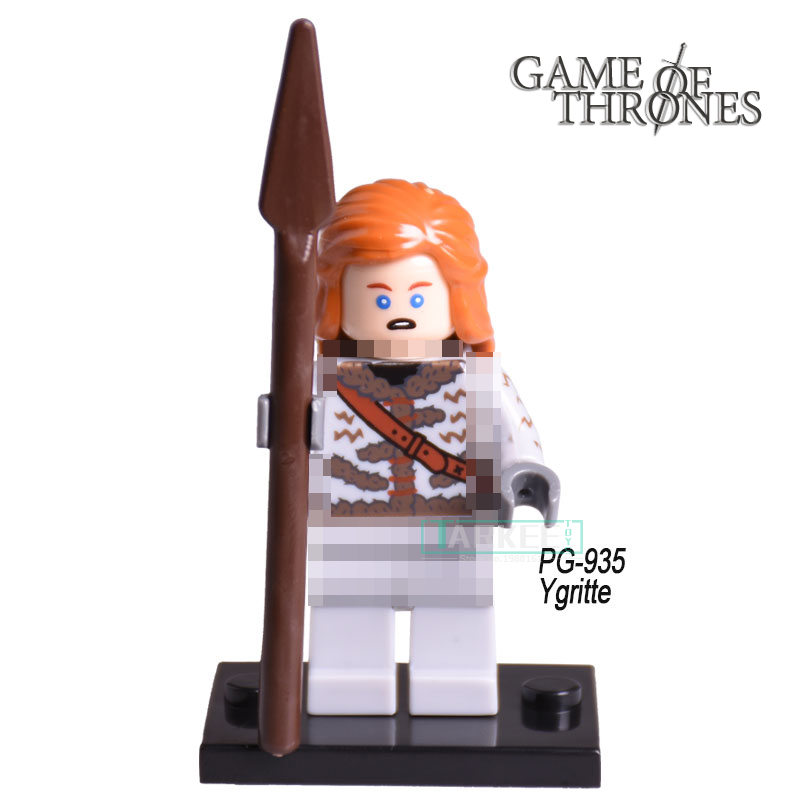 Jon Snow Ygritte Custom Made Game of Thrones diy figures Ice and Fire Series Building Block Bricks Kids DIY Toys Xmas Gift