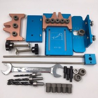 5 Holes Dowelling Jig Kit 6mm 8mm 10mm Hole Drill Dowel Jig Locator Joinery Hand Tool