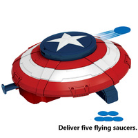 Captain America Super Hero Alliance Avenger Captain America Shield Soft Bullet Toy for Kids Action Figures Justice League Toy