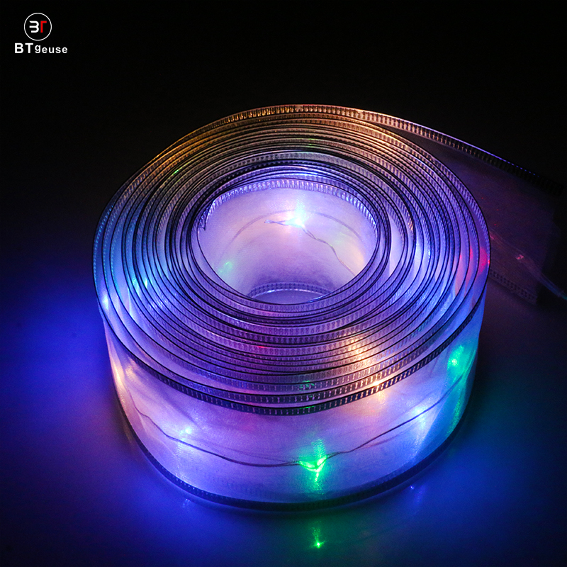 BTgeuse White Ribbon Fairy String Lights for Wedding Christmas and Room Decoration 5M LED String Light All For the Party in LED String from Lights Lighting