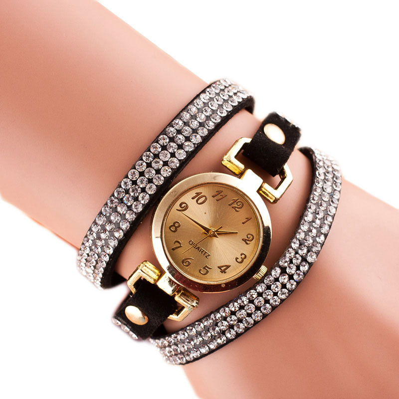 Multi-Layer Bracelet Quartz Watch for Girl Gifts Fashion Watches Diamond Multi-Layer Bracelet Student Watches for Teenagers saat diamond stylish watches for girls