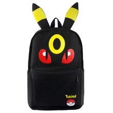 New Cartoon Pokemon Leafeon Umbreon Tasche Rucksack Jungen Mädchen Schultaschen Für Jugendliche Schüler Leinwand Rucksäcke Geschenk