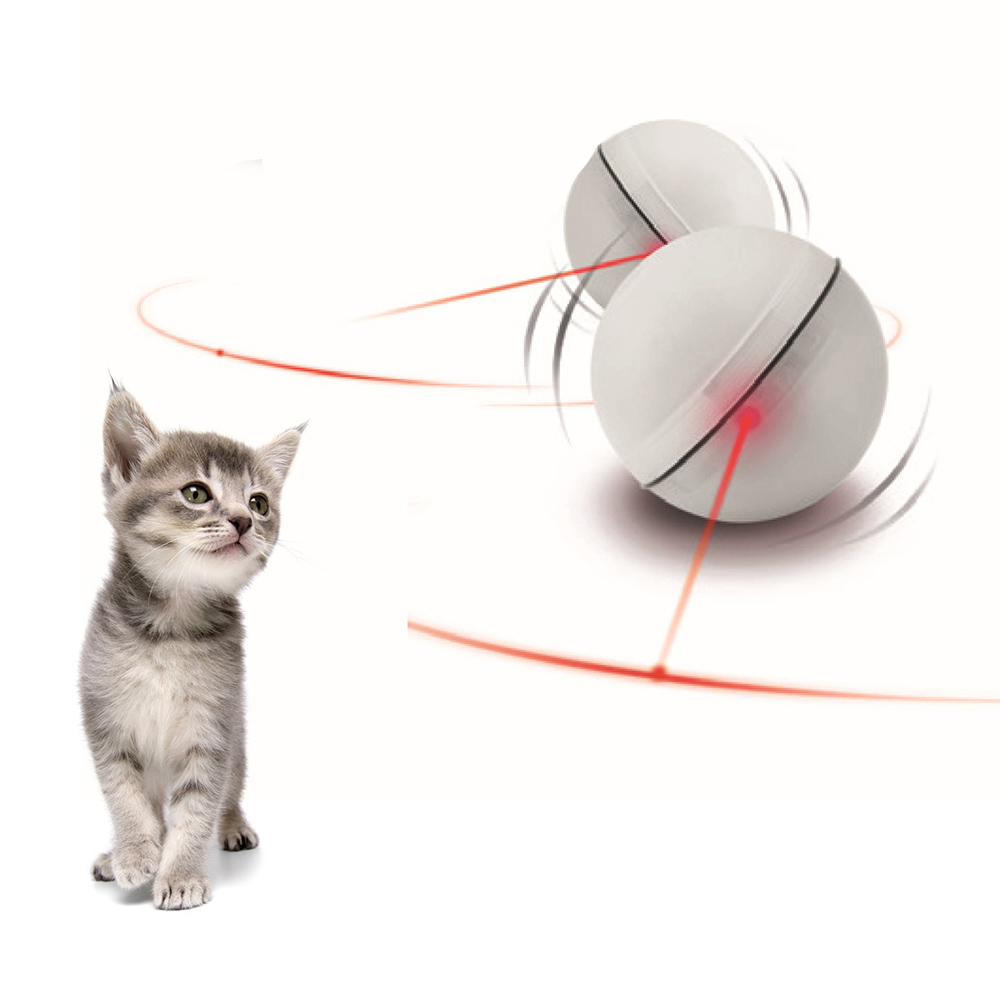 Cat Ball Toy Interactive Cat Laser Ball Toys Electric Toys LED Flash Light Ball Rolling Funny Cat Exrecise Toy Balls
