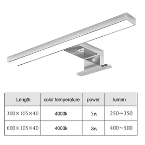 Image 2 - Warll  Lamp Waterproof LED Mirror Light 4000K Natural White Mirror Cabinet Light Bathroom Lighting