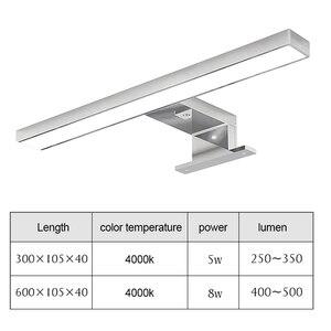 Image 2 - Warll lampe à miroir LED étanche K, blanc naturel, éclairage à miroir, éclairage pour une salle de bains