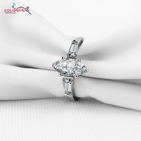2016 Fashion 1 25 Ct Marquise Cut Three Stone Engagement Ring Prong And Bezel Set NSCD